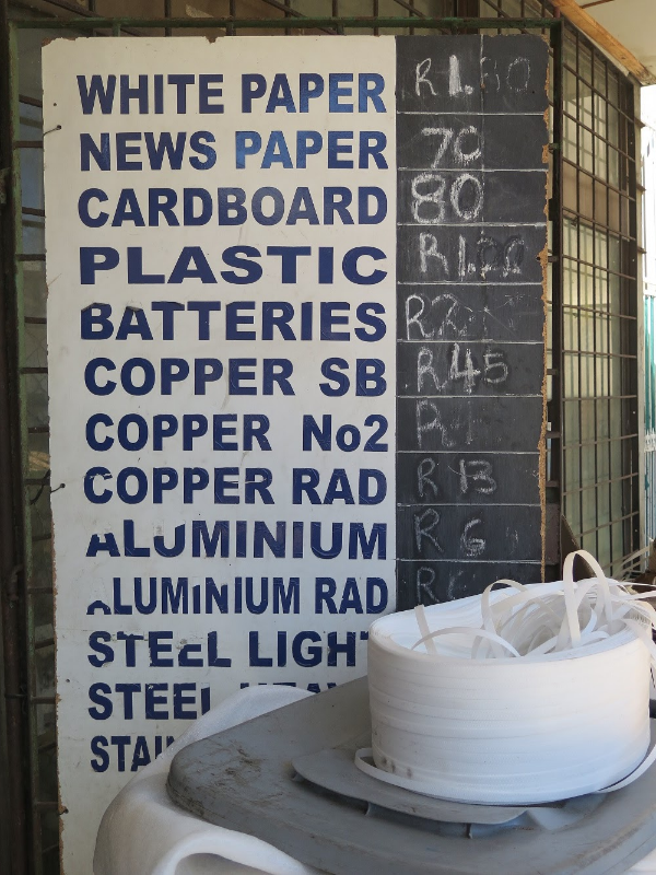 The signboard outside a scrap dealer in Cape Town. Picture: SEAN O'CONNOR