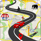 GPS Route Find Map Navigation