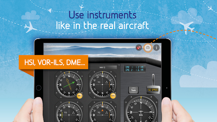 IFR Flight Trainer - Pilot Navigation- HSI VOR RMI - screenshot