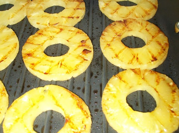On a stove top grille pan or on an outside grille, drain the slices...