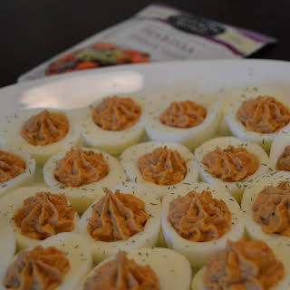 Harissa Deviled Eggs.