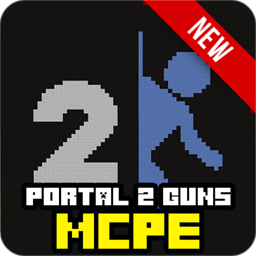 Portal 2 NEW Guns for MCPE mod