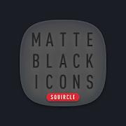 Matte Black SQUIRCLE Icons