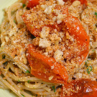 Spaghetti Pangrattato With Roasted Tomatoes