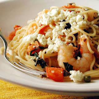Mediterranean Shrimp and Pasta.