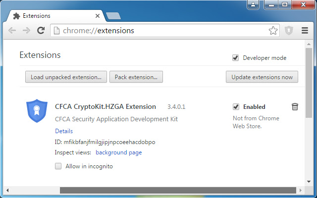 CFCA CryptoKit.HZGA Extension
