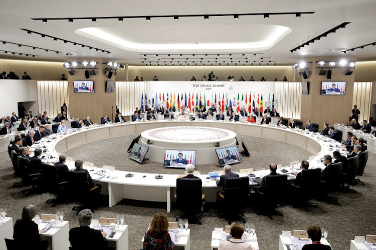 The G20 gathering will take place virtually on the sidelines of the spring meetings of the International Monetary Fund and World Bank. File photo.