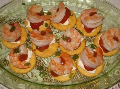 Cream Cheese Shrimp Cocktail Appetizers