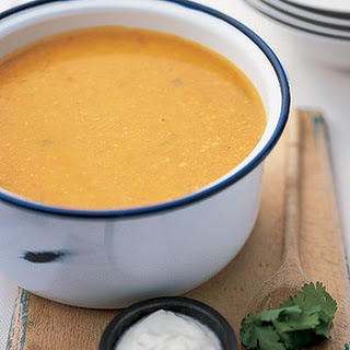 Curried Lentil, Carrot And Cashew Soup