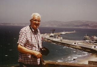 Photo: In Marbeille, 1974, ready to take more pictures.  I was along on that trip.
