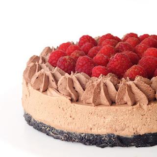 No Bake Raspberry Chocolate Cheesecake