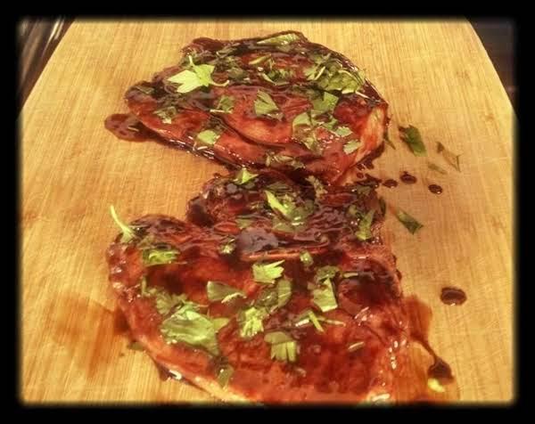 Blackberry Balsamic Pork Chops Recipe
