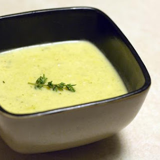 Creamy Potato and Leek Soup.