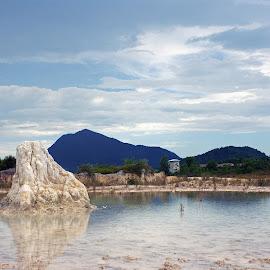 Karang Danau Biru by Mulawardi Sutanto - Nature Up Close Rock & Stone ( rock, danau biru, kalimantan, travel, stone, singkawang )