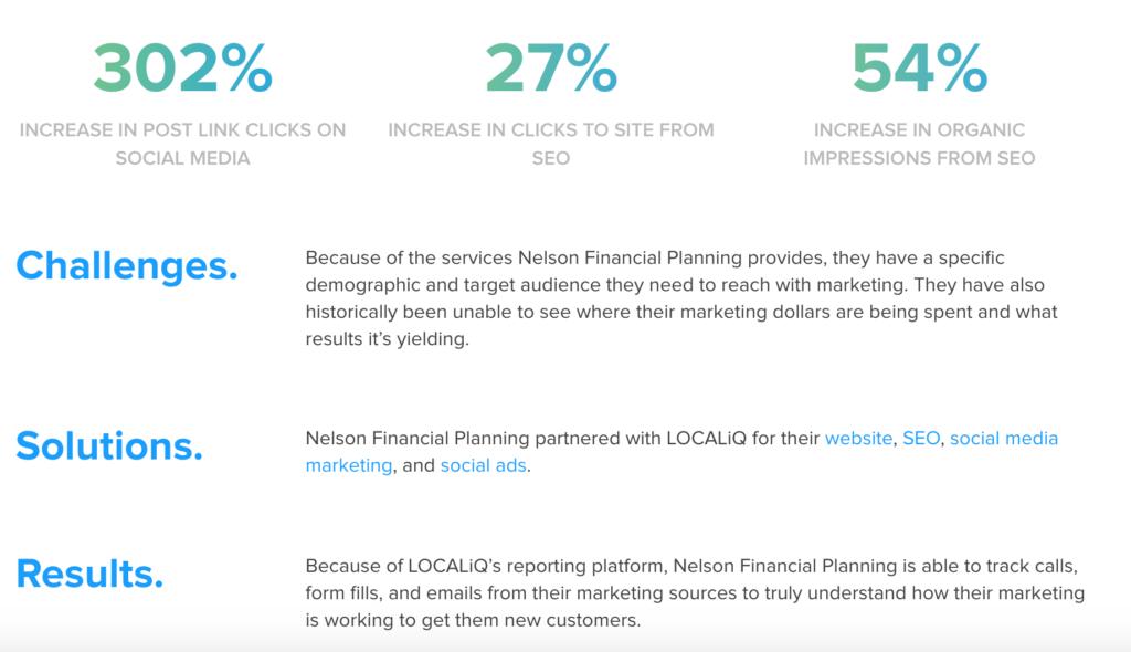 chiến lược tiếp thị doanh nghiệp nhỏ - một ví dụ về câu chuyện thành công từ LOCALiQ.