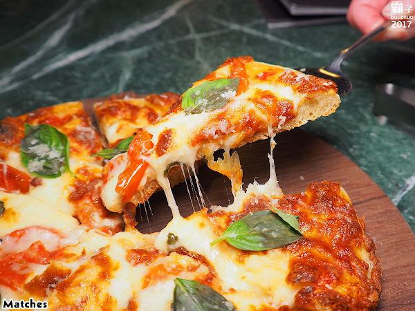 Matches餐酒館,低調的歐風餐廳,重新演繹經典美味,披薩蓬鬆口感讓人一吃就愛上。(台中西餐/台中宵夜/試吃)
