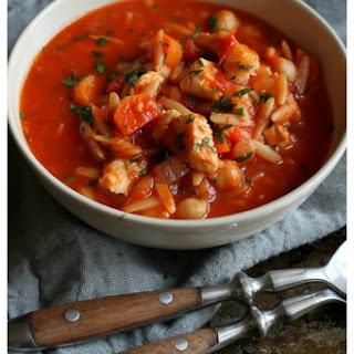 Easy Chicken, Tomato & Orzo Soup.