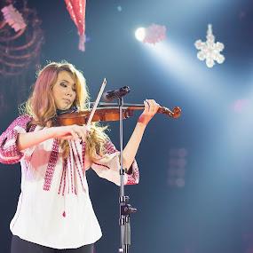Violin by Cosmin Lita - People Musicians & Entertainers ( girl, concerto, violin, performing, show )