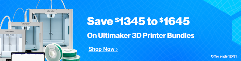 $1345 - $1645 Off Ultimaker 3D Printers