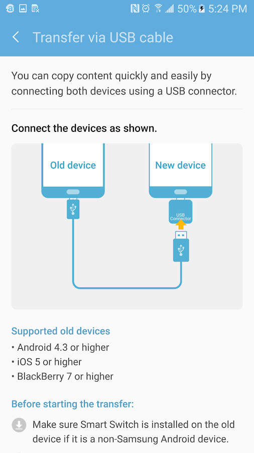 Samsung Smart Switch Mobile- screenshot