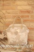 Photo: borsa a fiori natural con chiusura a scatto