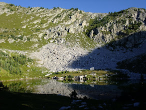 Photo: Upper Truchas Lake in the early morning