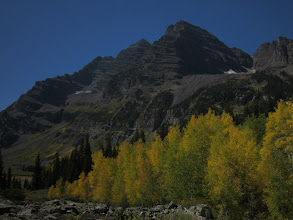 Photo: Maroon Bells with awesome aspen groves.