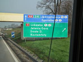 Photo: zomaar een bord onderweg, nog in Polen