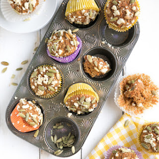 Carrot Cake Muffins with Streusel Topping Recipe