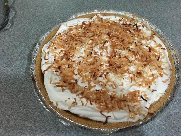 Toasted  Coconut Cream Pie-my Moms Recipe