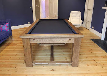 Traditional Refectory Style Pool Table in Living Space