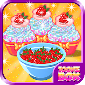 Berry Cup Cake Cooking