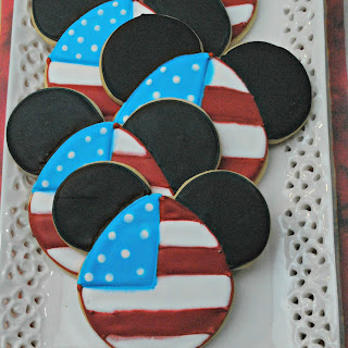 Mickey Mouse 4th of July Cookies.