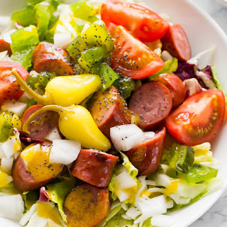 Chicago-Style Hot Dog Salad.