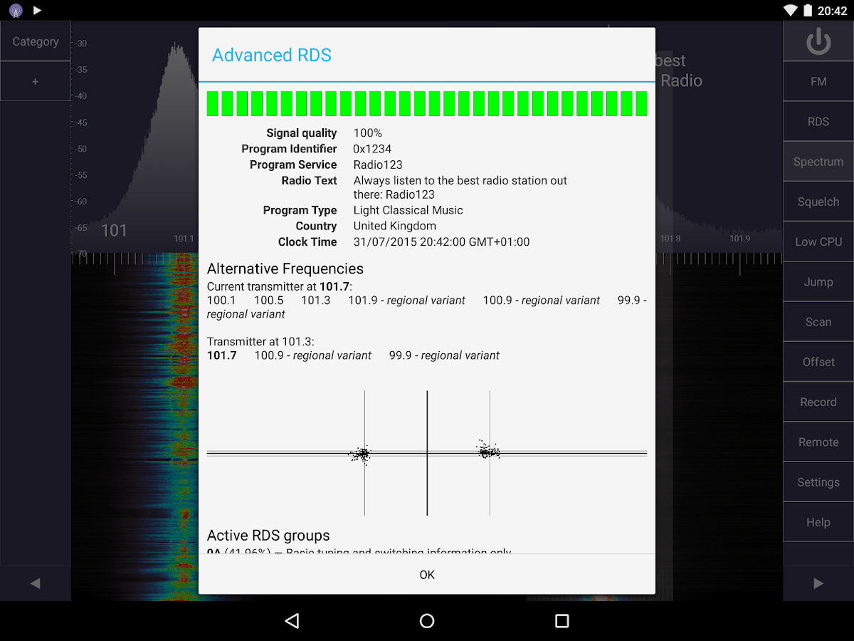 SDR Touch - Live offline radio- screenshot