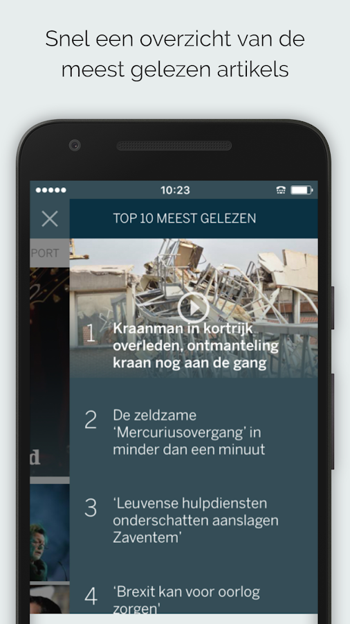 dS Nieuws: screenshot