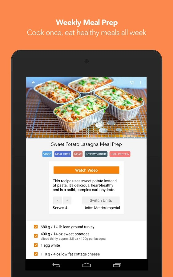 FitMenCook - Healthy Recipes- screenshot