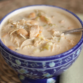 Chicken, White Bean and Green Chile Corn Chowder