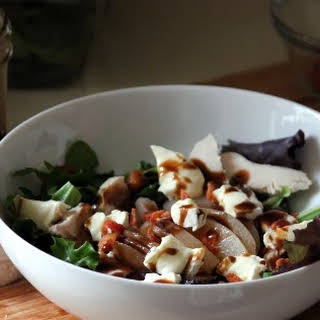 Poached Pear & Brie Salad.