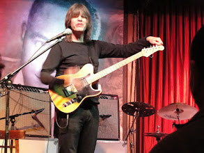 Photo: Mike Stern tunes up before the set.