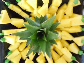 Photo: brochette ananas au sirop de gingembre