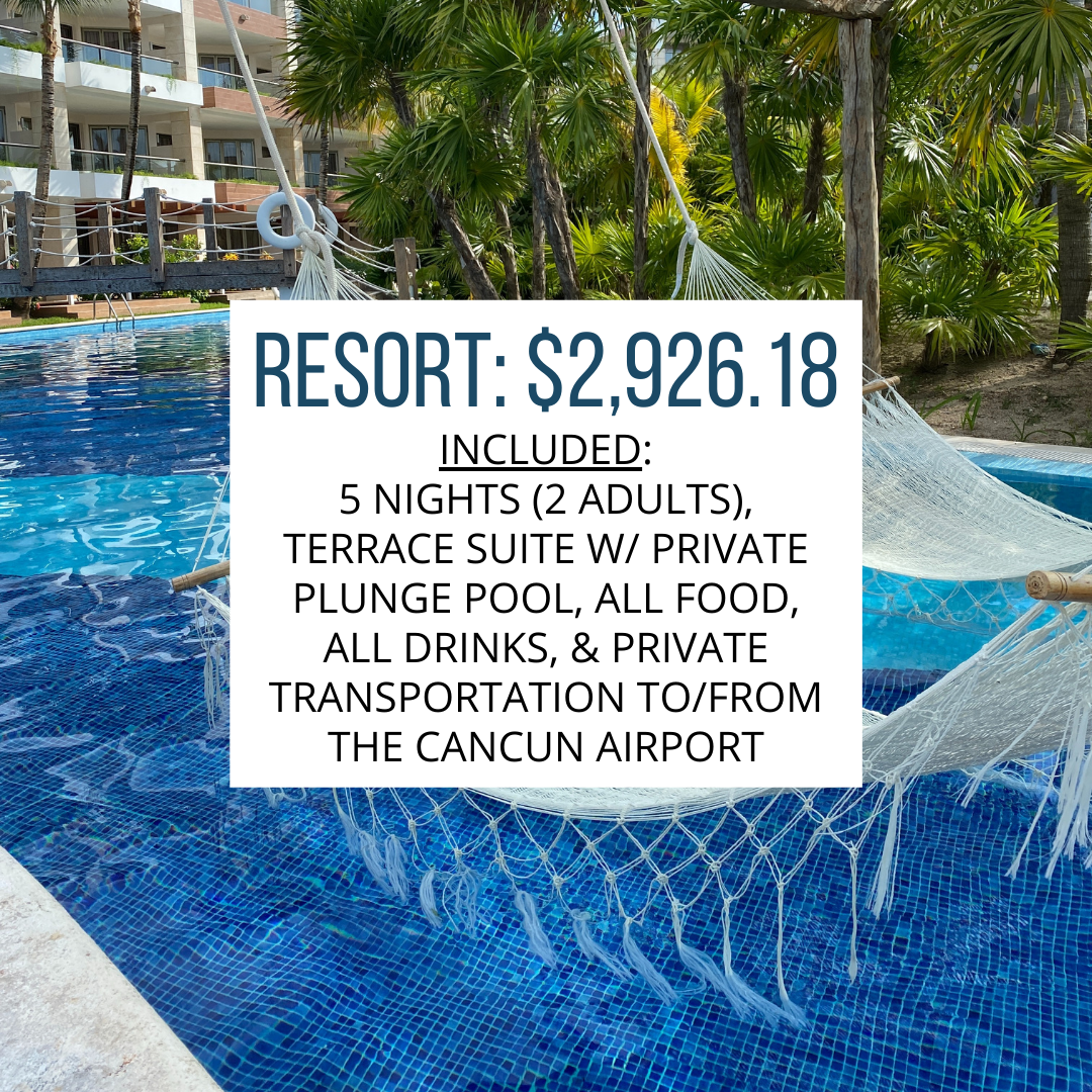 resort fees with pool background