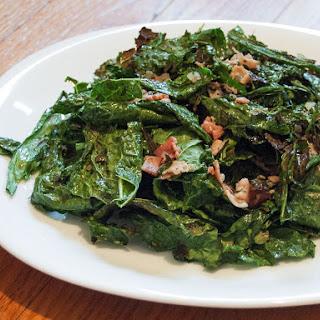 Grilled-Kale Salad With Warm Bacon Vinaigrette.