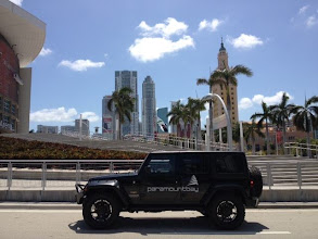 Photo: Spotted in front of the Freedom Tower in Downtown Miami: The Paramount Bay Jeep.