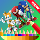 Coloring Book For Sonic Games icon