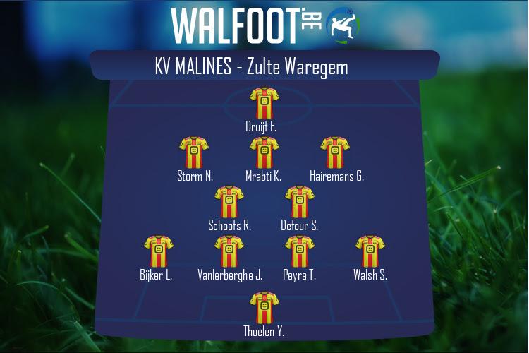 KV Malines (KV Malines - Zulte Waregem)