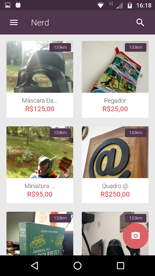"Compra e venda de ""nerdices""- screenshot"