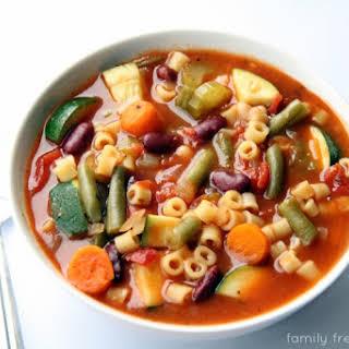 Crockpot Minestrone Soup.