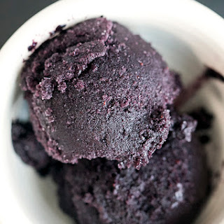 Dark Chocolate Blueberry Sorbet