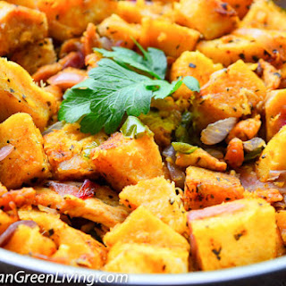 Spicy Pan-Roasted Yam with Chicken Breast.